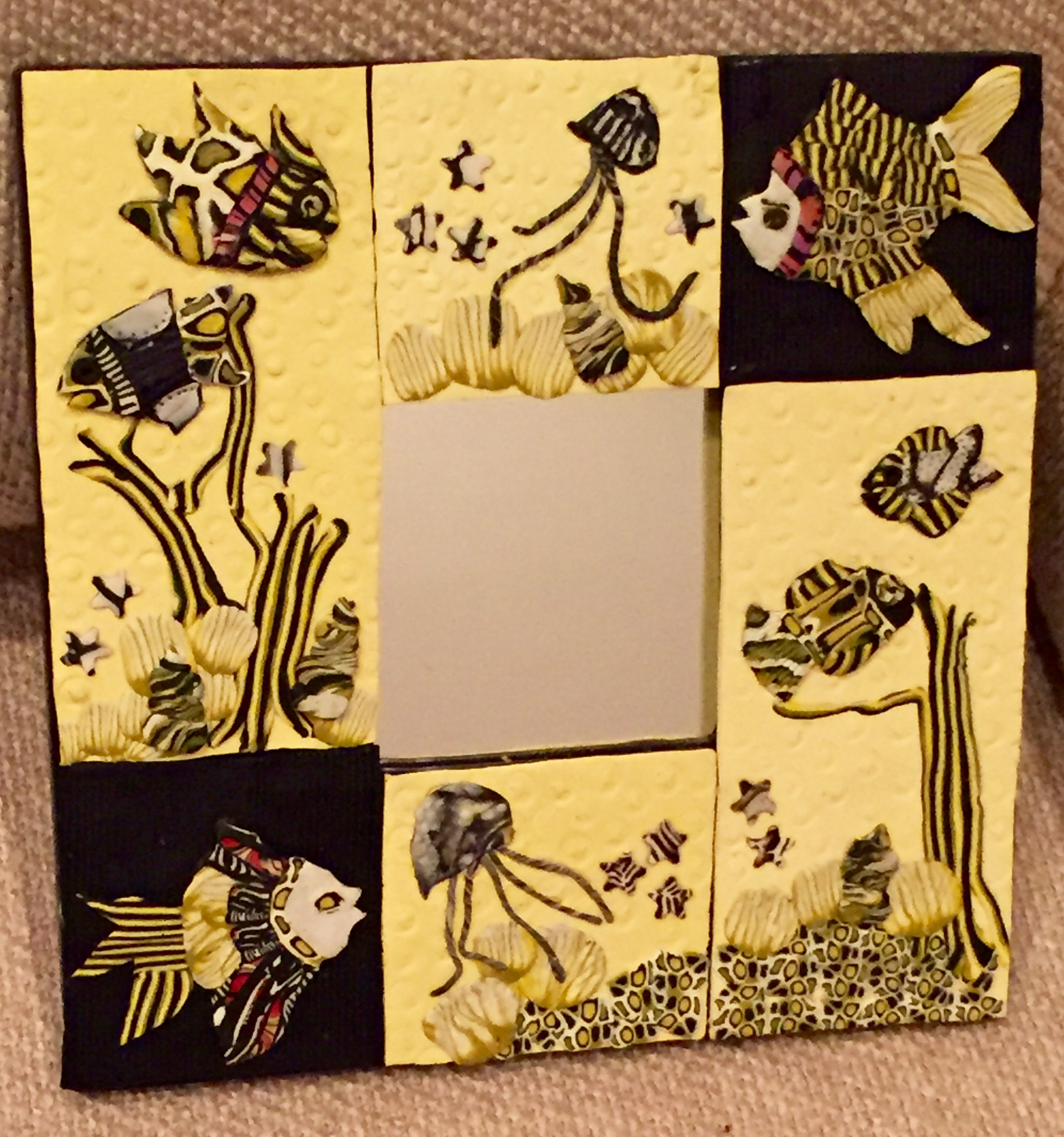 Clay, Metal & Glass Crafts By Ellen » Mirrors/Wall Plaques